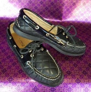 Sperry Top-Sider Black Quilted Boat Shoe